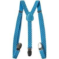 Kids Boys Girls Fashion Print Pattern Adjustable Elastic Suspenders Y-Shaped Clip On Unisex Kid Braces