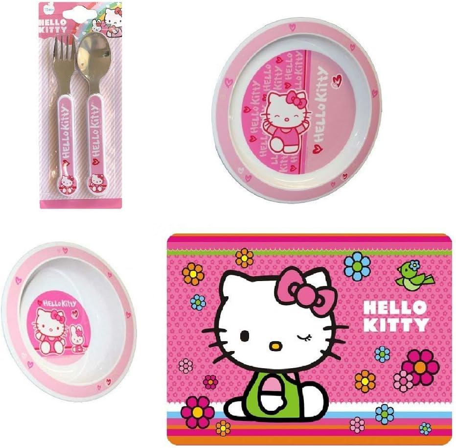 Cute Hello Kitty Rice Soup Fruit Dessert Bowl Kitchen Die-Cut Melamine Bowl Pink