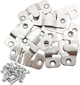 "Sipery 12Pcs Universal Sectional Sofa Interlocking Furniture Connector, Stainless Steel Sectional Sofa Connector Brackets 1.7"" Length"