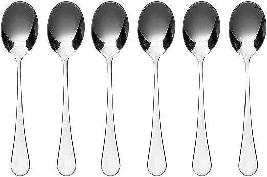 Imagen deViners Select 18.0 Cucharillas de Acero Inoxidable, Juego de 6, Plateado, 2.5 x 24 x 23 cm
