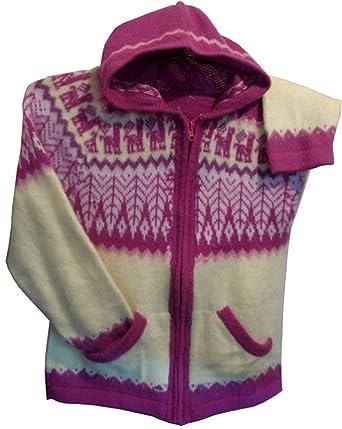 Gamboa - Alpaka Pullover mit Kapuze und Reißverschluss - Farbenfrohes Anden  Design
