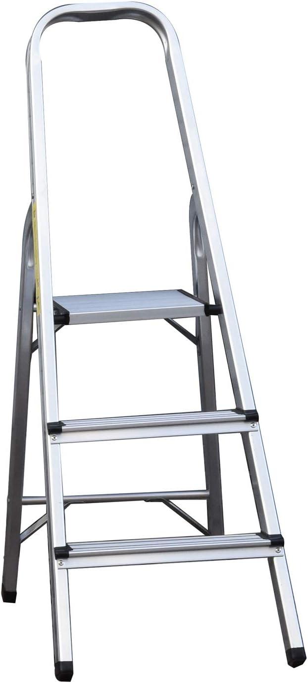 poids l/éger Escabeau en aluminium pliable pour la maison capacit/é de 150 kg 3 /étapes//4 /étapes//5 /étapes//6 /étapes//7 /étapes//8 marches