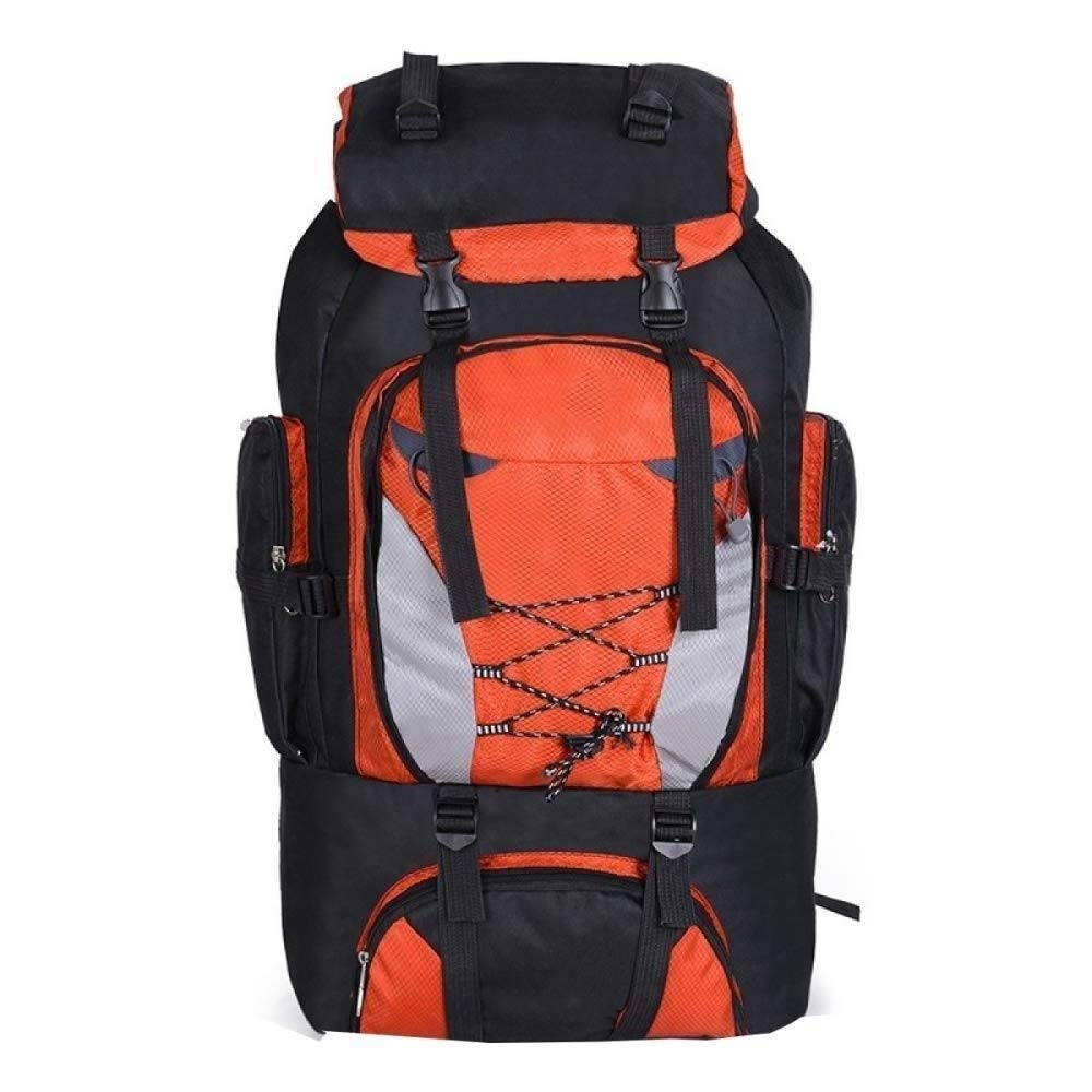 MYXMY Backpack Male Outdoor Travel Bag Large Capacity Waterproof Mountaineering Bag Tide Student Bag Female Ultra Light Riding Backpack Nylon Travel Leisure Backpack (80L) (Color : Orange)