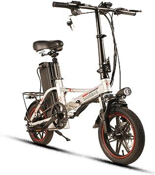 Samebike XMZ1214 Bicicleta eléctrica Plegable para Adultos, Ligera ...