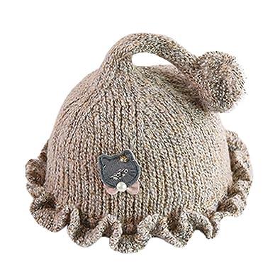 85b5830be Anglewolf Newborn Baby Girls Boys Cartoon Cat Knitting Headgear Warm ...