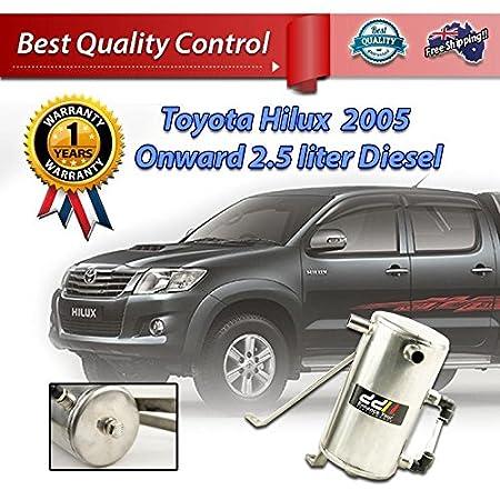 Nombre del producto: acero inoxidable Aceite Catch Can tanque para Toyota Hilux 2005 + + 2,5 l 2 KD Diesel Turbo 16 mm: Amazon.es: Coche y moto