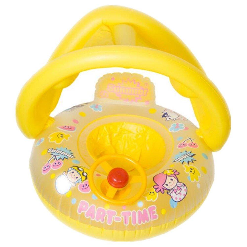 Asiento de piscina hinchable redondo para bebé con protector ...