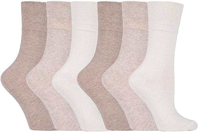 3 Pairs Gentle Grip Non Elastic Diabetic Soft Comfortable Cotton Socks UK