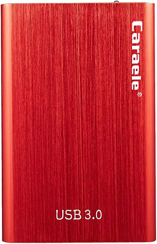 B Baosity 外付ハードディスク 2.5インチ USB3.0 SATA HDD ポータブル 赤色 金属 - 500GB