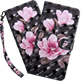 HMTECHUS Samsung A10E Case 3D Luxury Pink Flower PU Leather Wallet Flip with Card Holder Kickstand Book Style Magnetic…