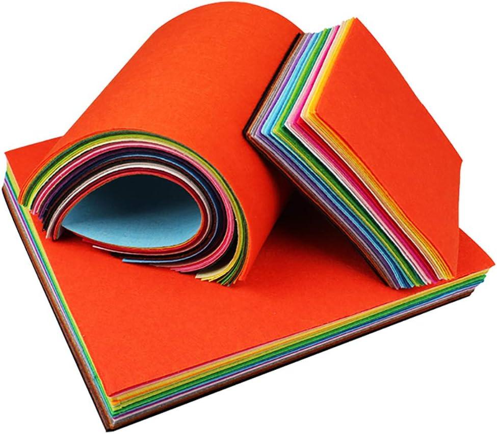 40 pezzi quadrati progetti creativi per lavori fai da te Pezzi di tessuto in feltro CNSSKJ Felt colori assortiti cucito 15X15CM