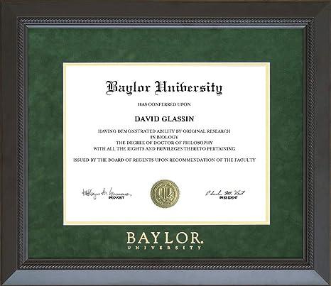 Amazon Com Wordyisms Baylor University Classic Diploma Frame