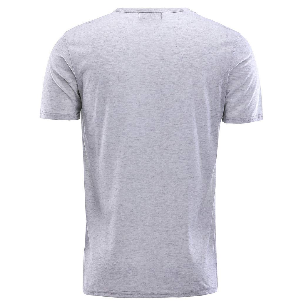 NRUTUP Mens Vintage Breathable Solid Loose Chest Zipper T Shirts Blouses (Gray,M) by NRUTUP (Image #5)