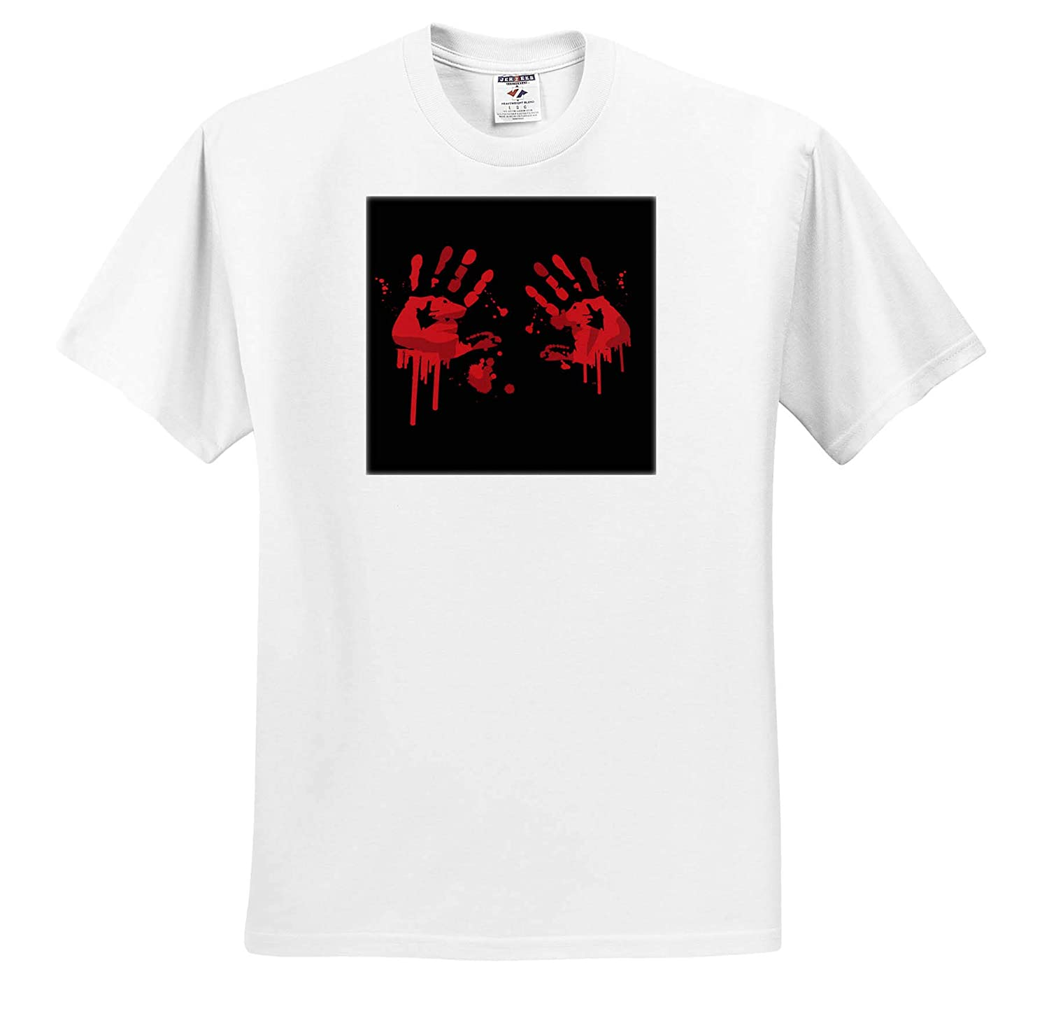 Two Funny Blood Hands for Horror Fans and Lovers Halloween Adult T-Shirt XL ts/_318912 3dRose Sven Herkenrath Funny