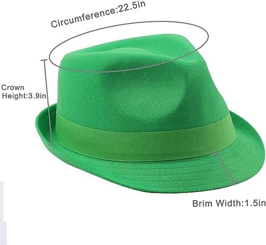 Solid Fedora Hat Men/'s My Lucky Navy Tie St Patrick/'s Day Set