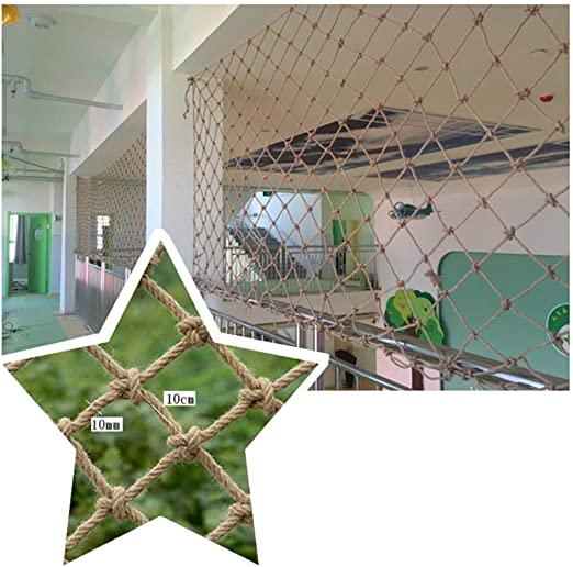Red Seguridad Niños Escalera/Ventana,Red Balcon Seguridad Gatos/niños,Material De Yute Natural,10mm / 10cm,para Balcón Terraza Escaleras,Tamaños Múltiples (Size : 3x4m): Amazon.es: Jardín