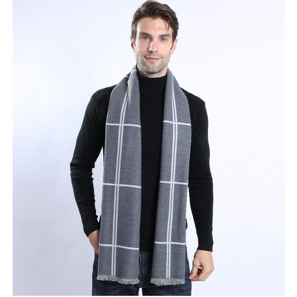 Bufanda para hombre Mens invierno gruesa bufanda de algodón sólido ...