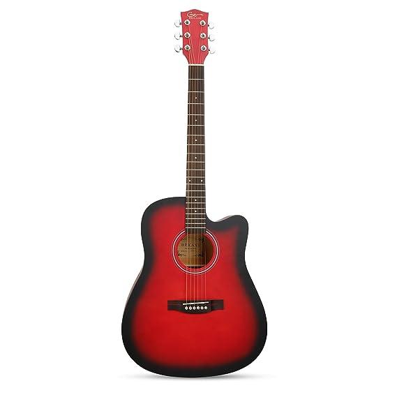 Guitarra Acústica, Hricane Guitarra Clásica 41 Pulgadas Acabado Mate con Cuerda de Metal, Bolsillo Exterior y Cuerdas de Repuesto para llevar fácil (Cutway, ...