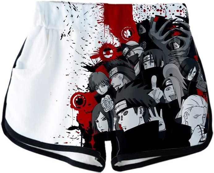 Pyjama Freizeit Naruto Anime Shorts passen zu Sport WOONN Shorts und Kurze /Ärmel