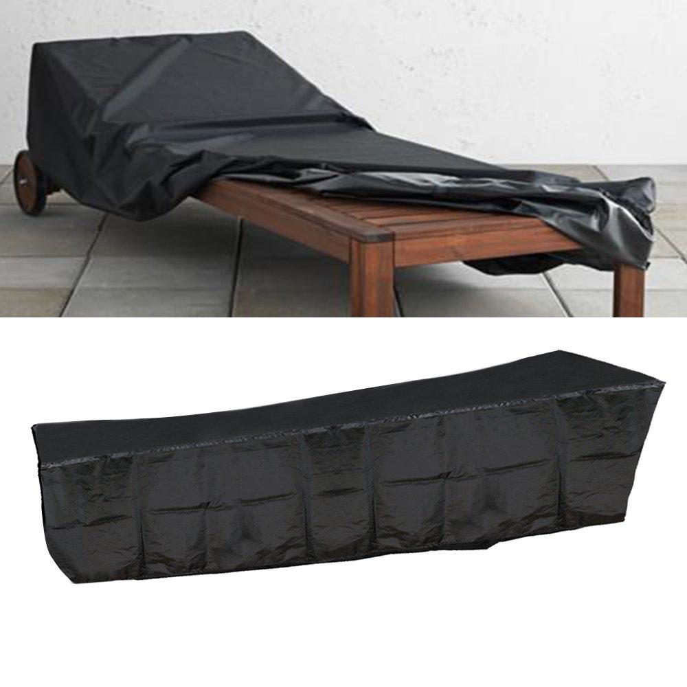 Black Waterproof Sunbed /Sun Lounger Outdoor Garden Patio Yard Furniture Cover Good shop us