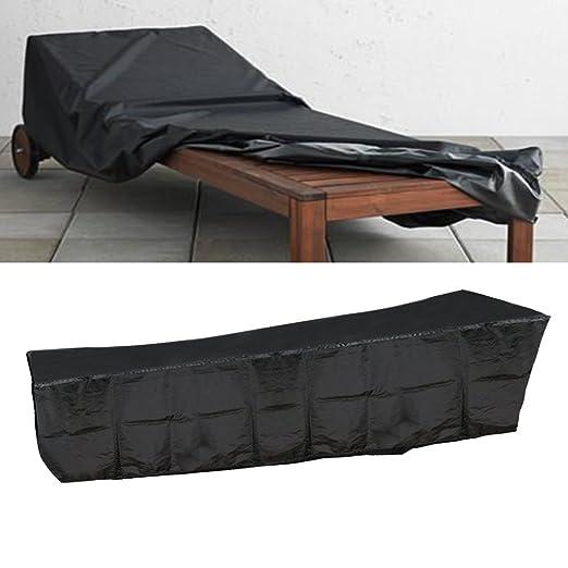 Good shop us Negro Resistente al Agua Hamaca/Tumbona al Aire Libre Muebles de jardín Patio Patio Funda: Amazon.es: Jardín