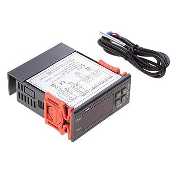Gazechimp Termostato LCD Digital con Sensor Compatible Control de Calefacción Refrigeración MH-1000A