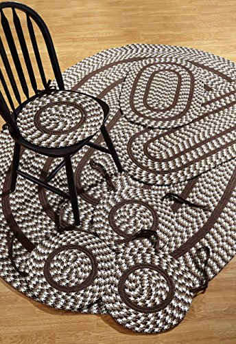Better Trends Crescent 7-Piece Braided Rugs Set, 50 by 80-Inch, Chocolate