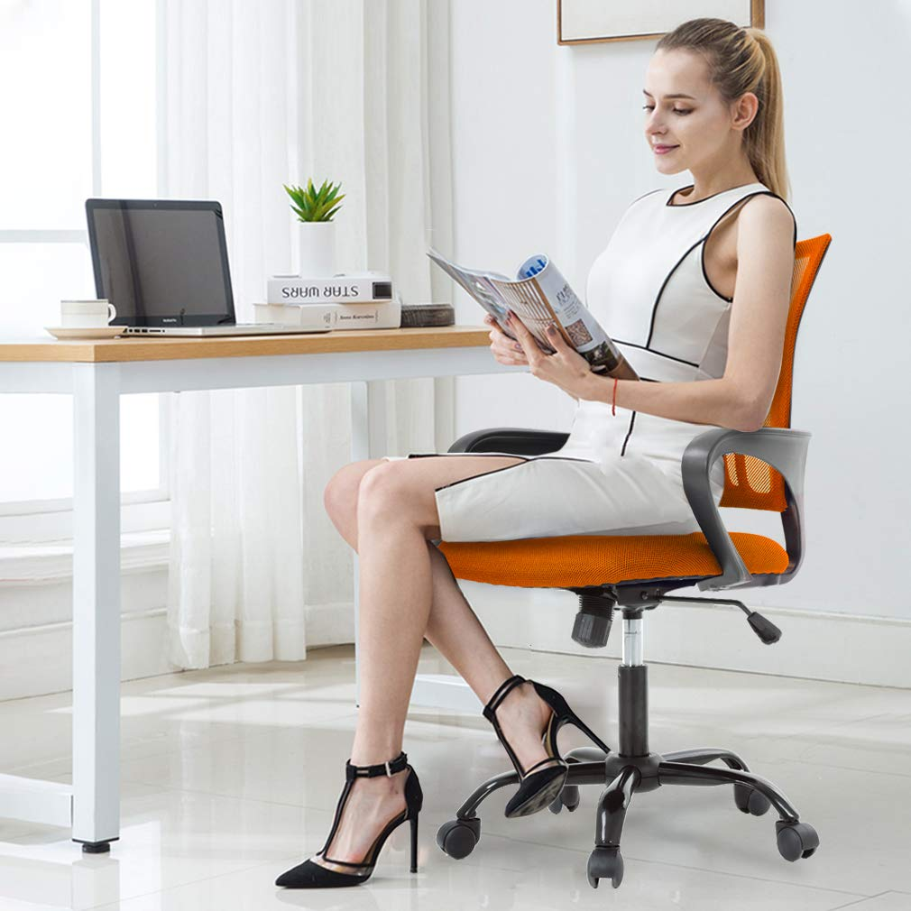 Red Bestoffice Ergonomic Desk Mesh Computer Back Support Modern Executive Adjustable Rolling Swivel Chair For Home Office Desk Chairs