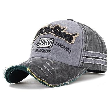 31c8f657598 Symphony Unisex Baseball Cap Cotton Motorcycle Cap Edge Grinding Do Old Hat  (Black)  Amazon.co.uk  Clothing