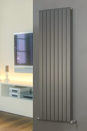 Designer Radiators | Mars Vertical Flat Panel P1 | Anthracite | 1800mm X  670mm By Mars