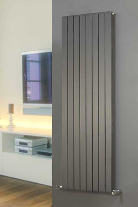 Designer Radiators | Mars Vertical Flat Panel P1 | Anthracite | 1200mm X  595mm By Mars