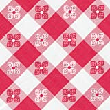 "Classic Series Vinyl Tablecloth Check, Red/White 52"" x 52"""
