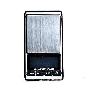 Balanza de bolsillo/Báscula de precisión Tara/Cuenta Piezas 500g/0,01g (DF002): Amazon.es: Hogar