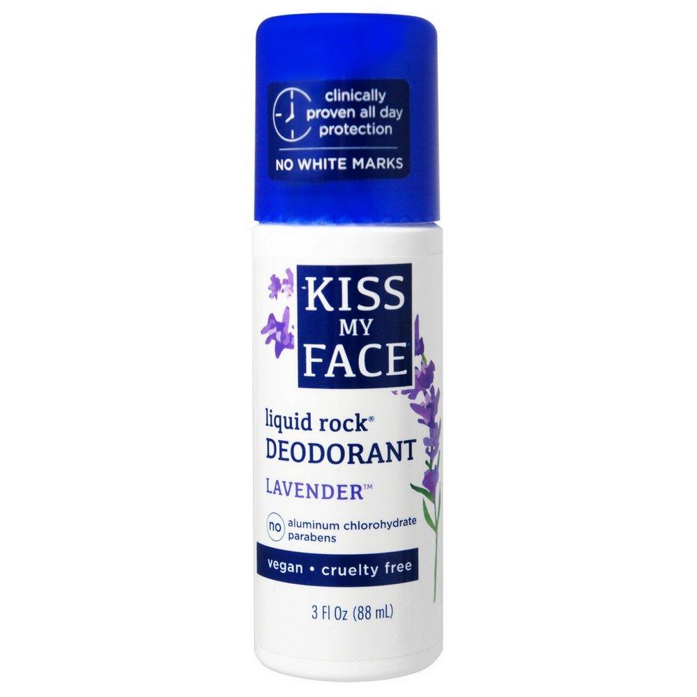 Kiss My Face Paraben Free Liquid Rock Roll-On Deodorant-Lavender-3 oz