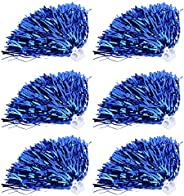 Cheerleader Poms,6Pcs Cheerleader Pom Poms Squad Cheer Sports Party Dance Useful Accessories