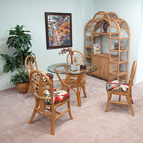 Premium Rattan Dining Furniture Sundance Dining and Shelf 6PC Package Set