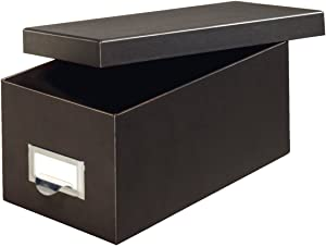 Globe-Weis/Pendaflex Fiberboard Index Card Storage Box, 3 x 5 Inches, Solid Black (3X5BLA)