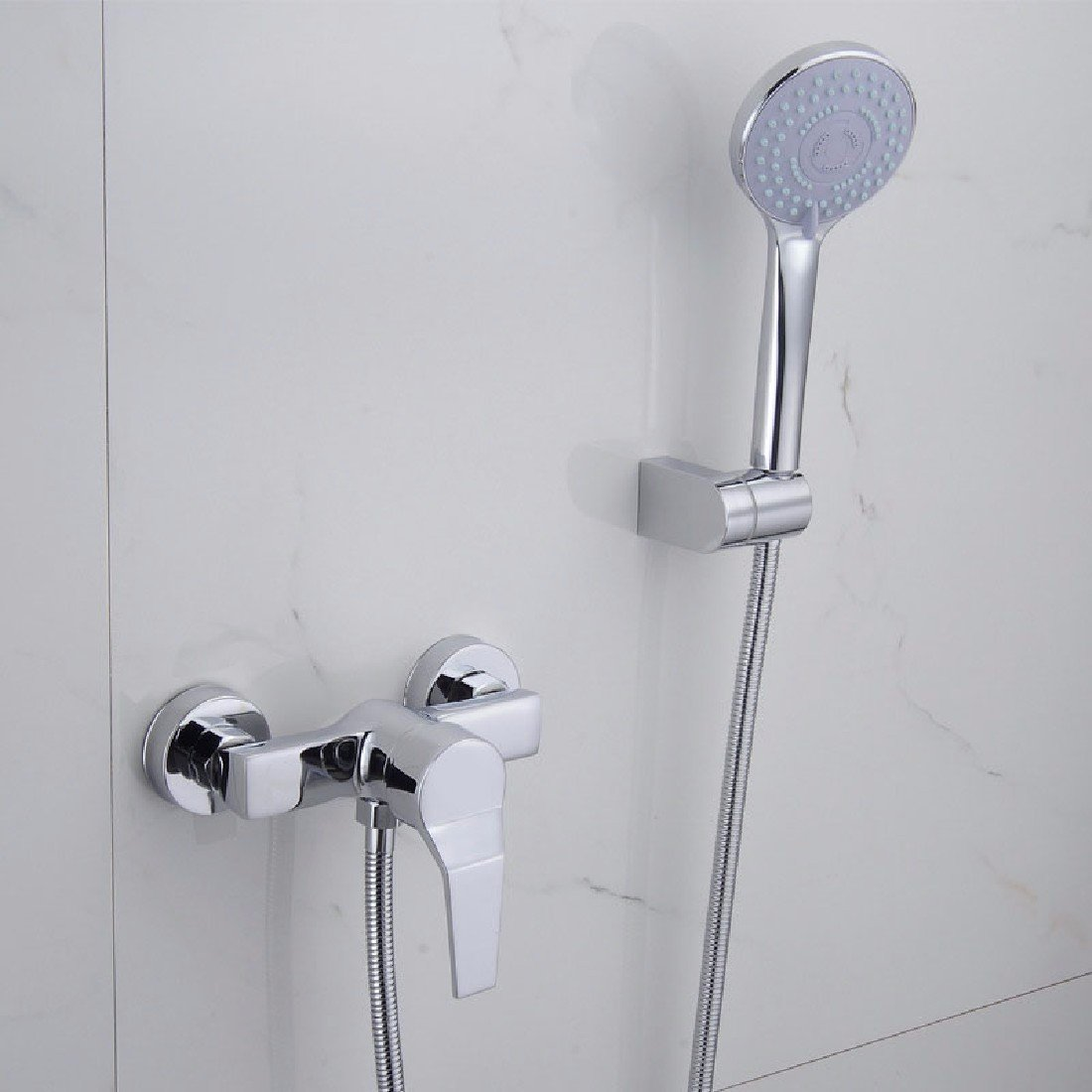 WAWZJ Bathroom Shower Set Simple Shower Shower Head