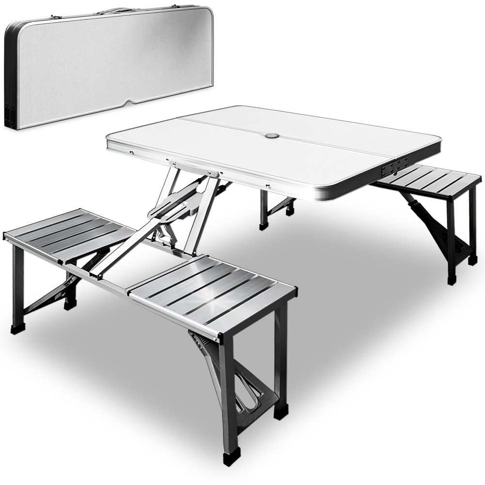 Folding camp table and chairs - Aluminium Camping Folding Table And Chairs Set Outdoor Bbq Picnic Dining Furniture 88x36x11cm Amazon Co Uk Sports Outdoors