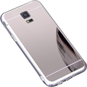 Funda Galaxy S5 ,Carcasa Protectora [Trasera] de [Tpu] para Móvil En [Con Efecto Espejo] Ultra-Delgado Caras Cubierta Caso Espejo Funda Case Cover para Samsung Galaxy S5 ,Plata: Amazon.es: Bricolaje y herramientas