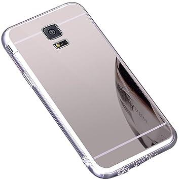 Funda Galaxy S5 ,Carcasa Protectora [Trasera] de [Tpu] para Móvil En [Con Efecto Espejo] Ultra-Delgado Caras Cubierta Caso Espejo Funda Case Cover ...