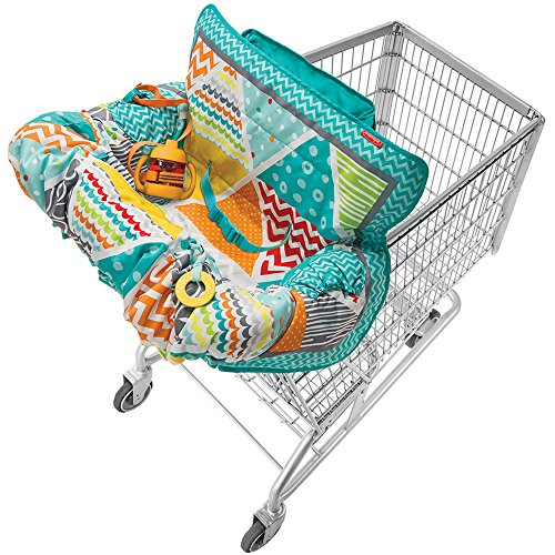 infantino-compact-2-in-1-shopping-grocery-cart-and-high-chair-cover-for-baby-blue