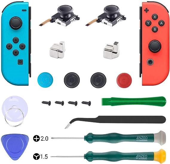 Juego de 2 palillos de repuesto analógicos para Nintendo Switch ...