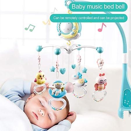 Sunnyushine Juguetes Musicales Móviles para Bebés, Juguetes De Campana con Control Remoto, Cuna Móvil para Música para Bebés, Soporte Móvil Musical ...
