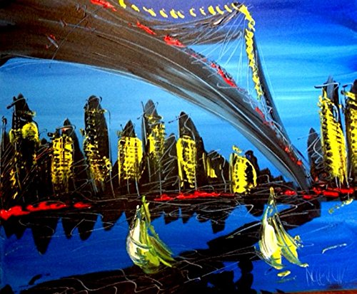 Original Paintings Artwork New York Landscape Wine Still Life Cityscape Trees Music Jazz Hearts Pop Art Modern Contemporary Gallery Wall Decor Canvas Abstract Art for Sale By Artist Mark Kazav Ready to Display Palette Knife Texture Impressionist Fine Art