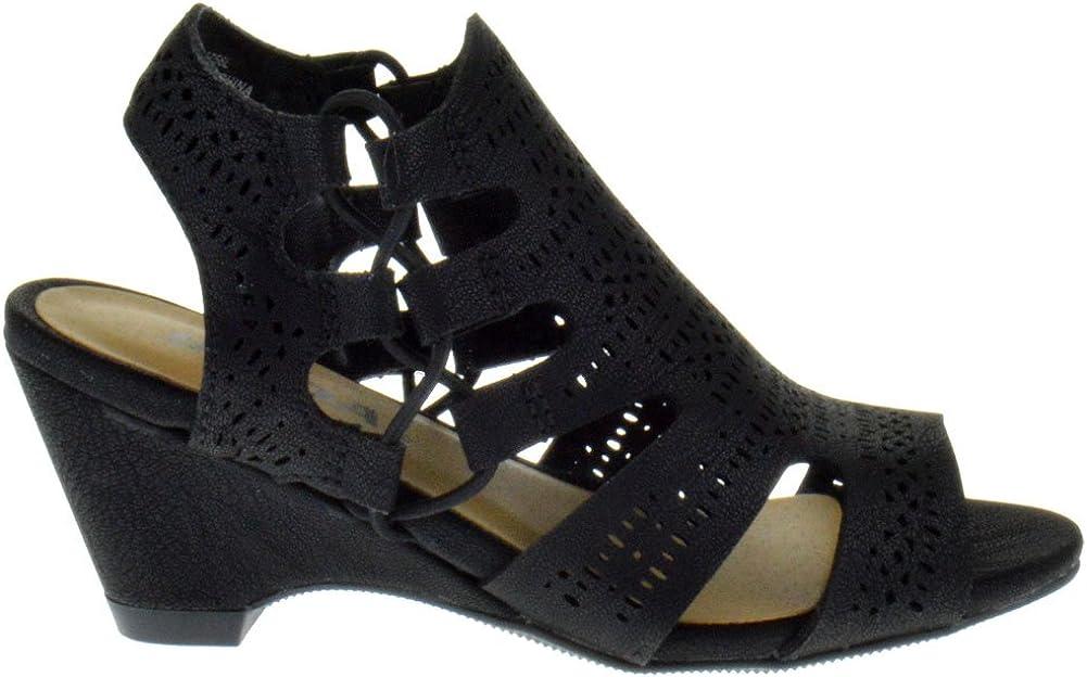Sod Zuka 2 Little Girls Cut Out Heeled Peep Toe Sandals