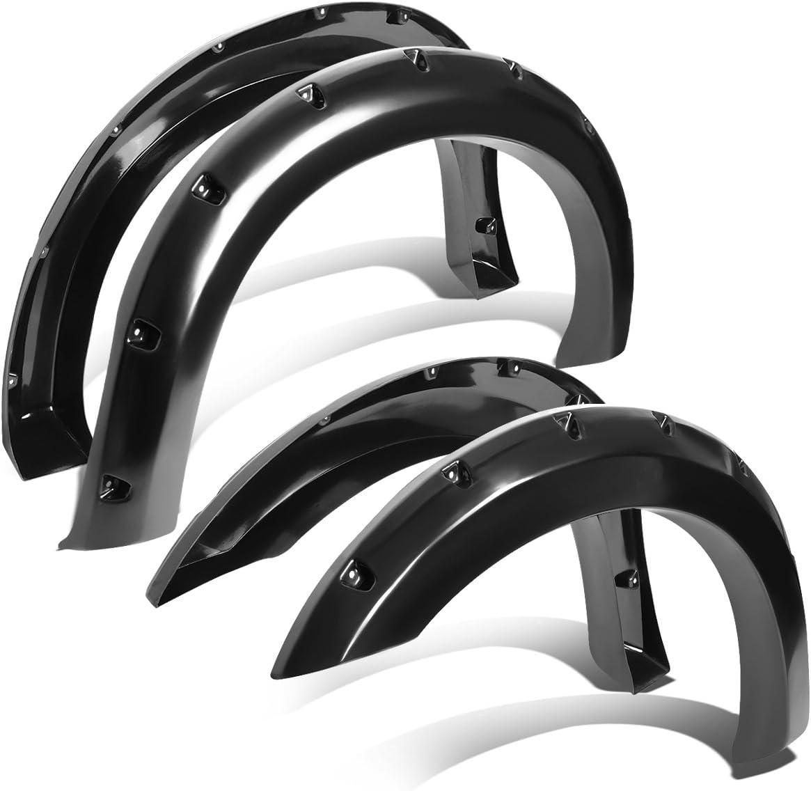 4 Piece DNA motoring WF-F15004-BK Side Wheel Fender Flares
