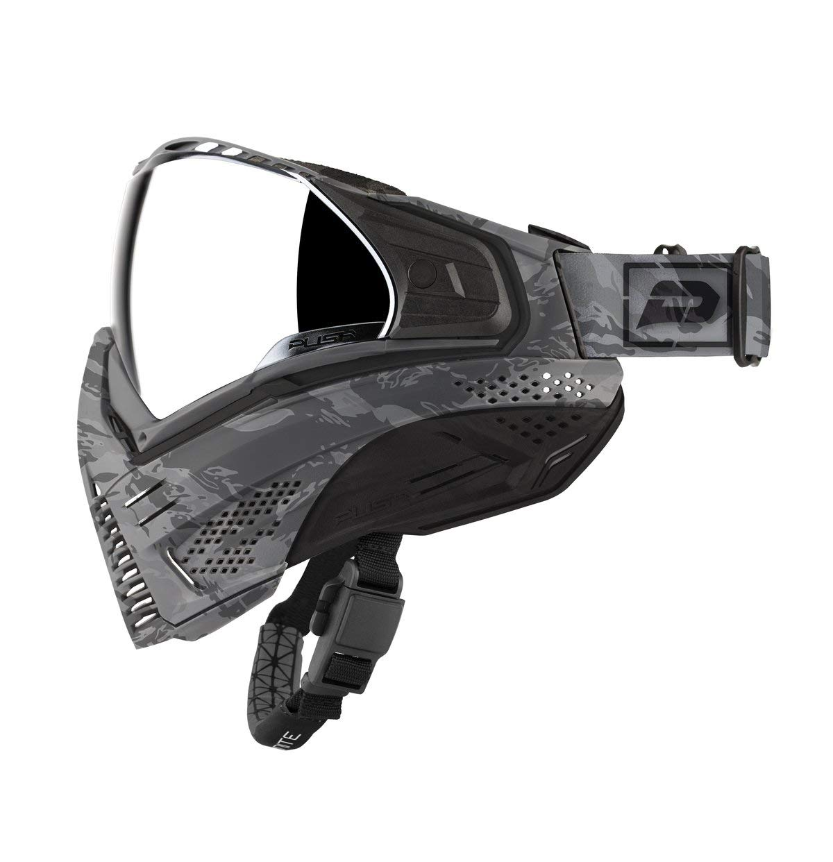Push Unite Paintball Goggles MASK with Quad PANE Lens and CASE (Gray Camo) by Push Paintball