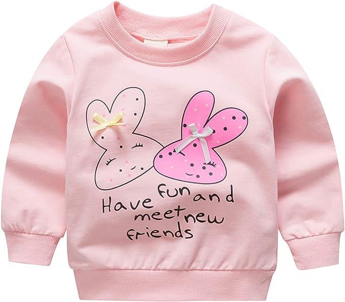 Newborn Baby Girls M/ädchen Set T-Shirt//Langarmshirt und Leggings rosa