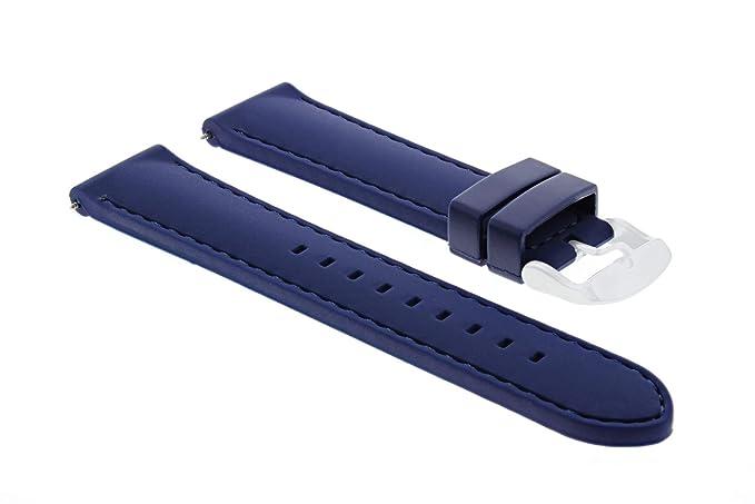 1e520ea1a40 Amazon.com  20MM Soft Rubber Diver Watch Band Strap for Gucci Blue ...